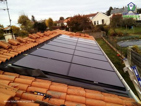 Step by step d'une installation de panneaux solaires aérovoltaïques
