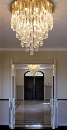 Classic Tear Drop Murano glass chandelier custom made