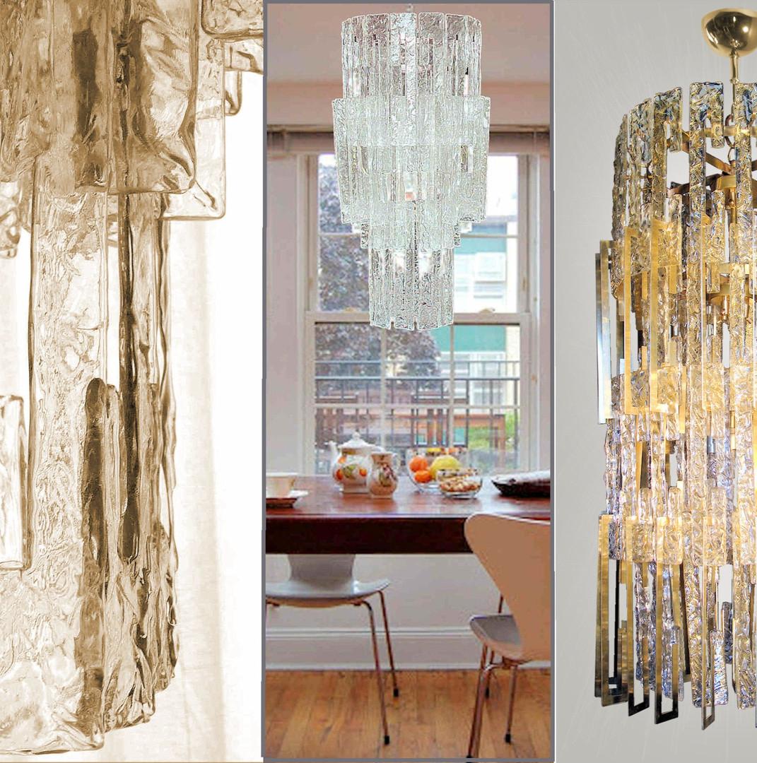 Roma custom made Murano glass chandeliers