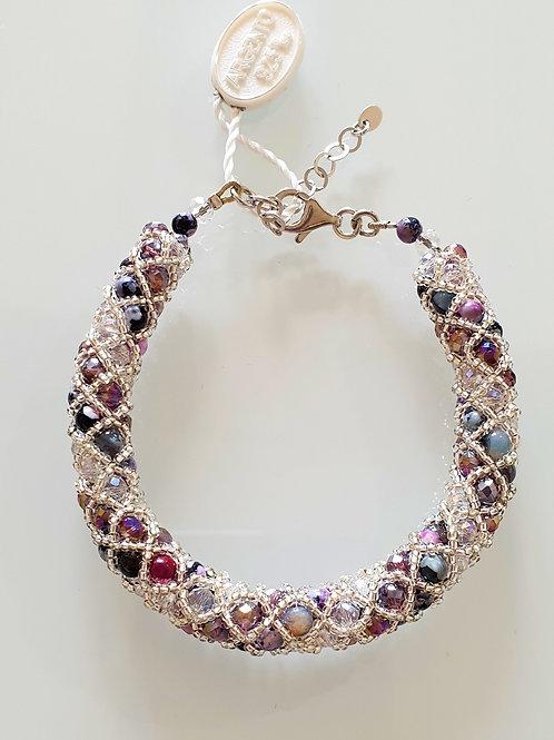Murano glass beads hand made fashion costume bracelet by artist Paola B.