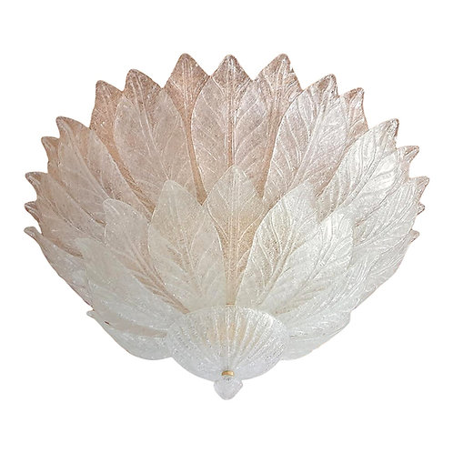 Large Mid Century Modern Flush Mount Chandelier, Italy 1960, by Barovier