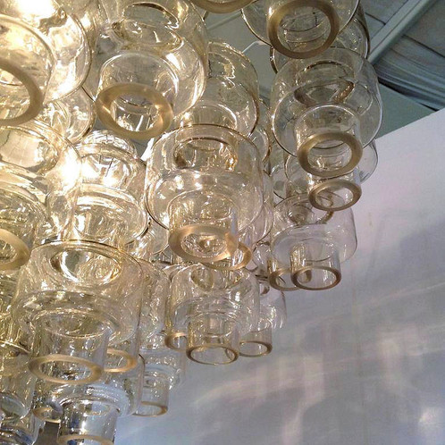 Vintage Clear Glass Murano Chandelier   DLightus: Houston Mid ...