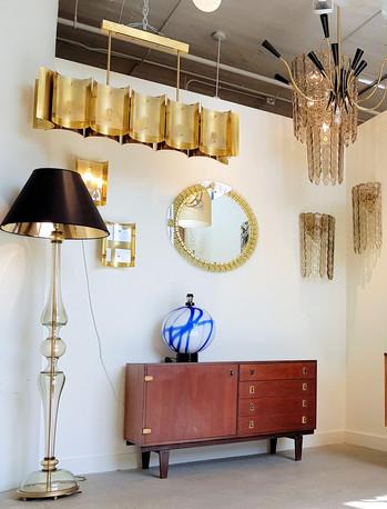 Monaco bespoke brass & glass chandelier