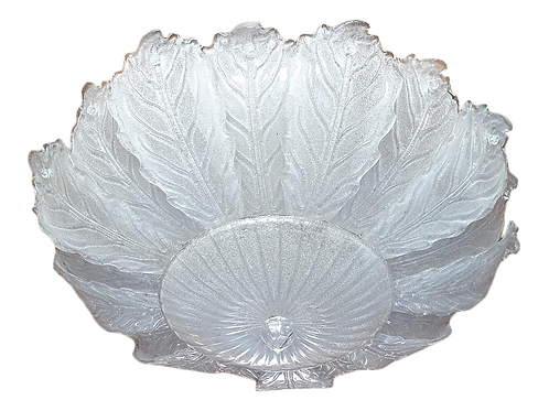 Very Large Mid-Century Leaf Murano Glass Flush Mount by Barovier, Italy, 1970s