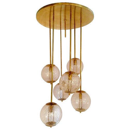 Large pendant chandelier Murano glass globes Houston