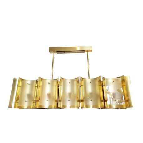 Monaco mid century brass bespoke chandelier Dlightus