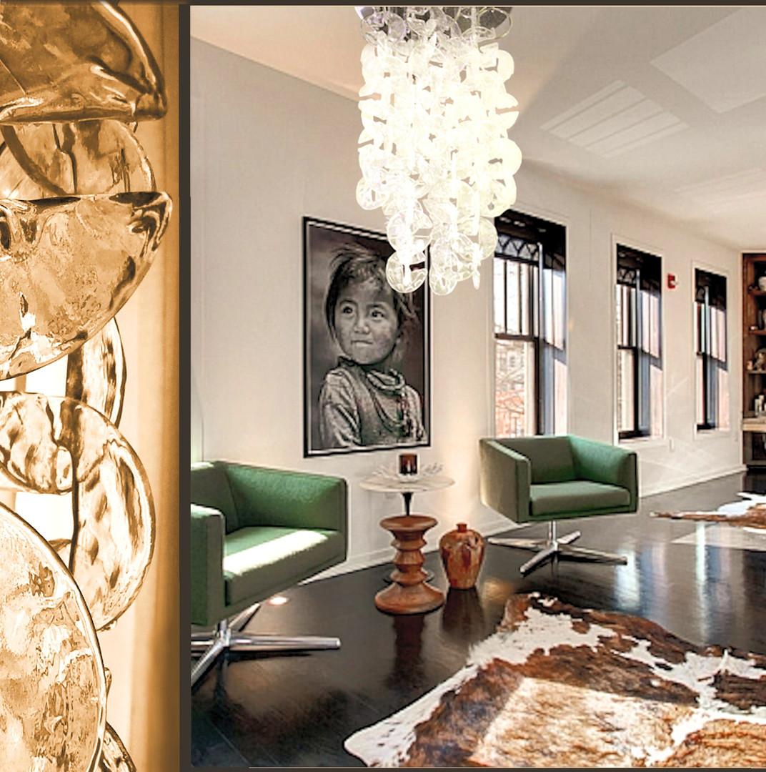Milano custom made Murano chandelier