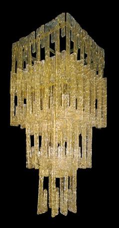 Roma Square Murano Hook chandelier