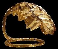 mid-century-modern-hammered-brass-leaf-t