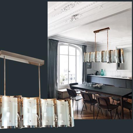Monaco Bespoke chrome & glass chandelier
