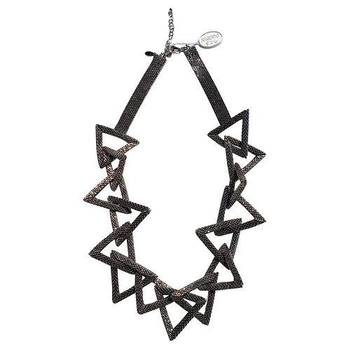 Murano glass beads hand made silver fashion neklace by Venetian artist Paola B.