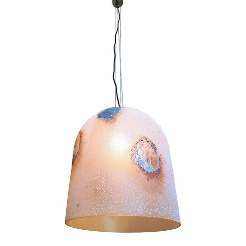 Barbini textured/colored Murano glass mid century modern pendant ceiling light