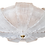 Thumbnail: Large Mid-Century Murano Clear Glass Flush Mount, Barovier style 1970s