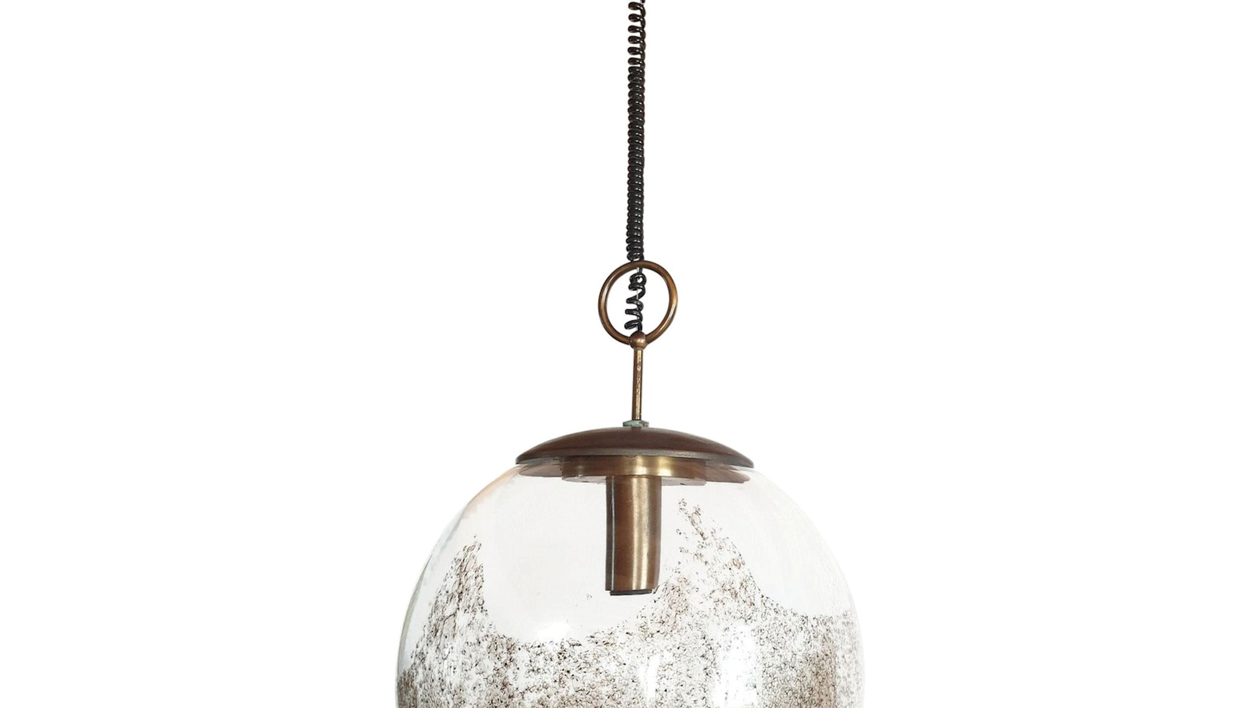 Large Murano glass globe light, Mid Century Modern, by Carlo Nason for Mazzega, Italy 1960s