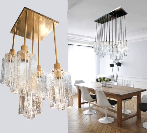 Kalmar custom made flush-mount chandeliers