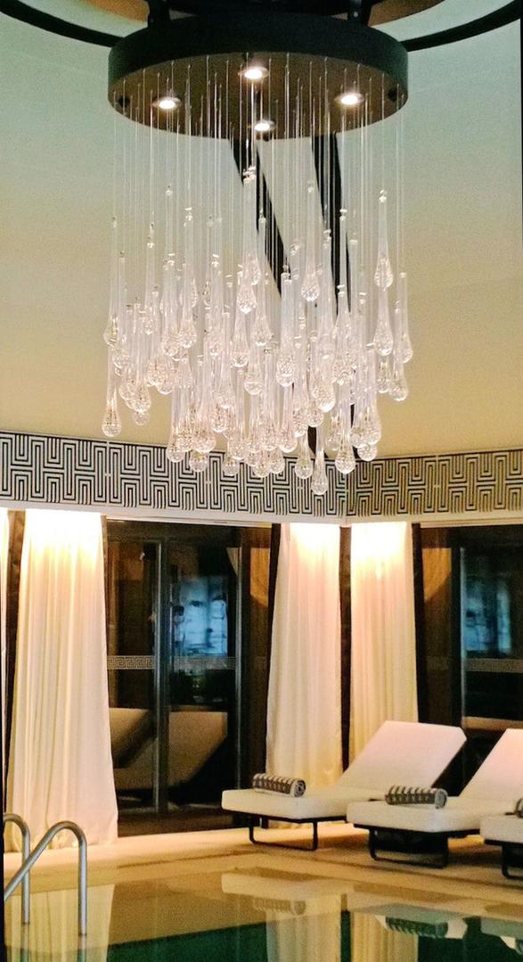 Modern Tear Drop Murano glass Chandelier