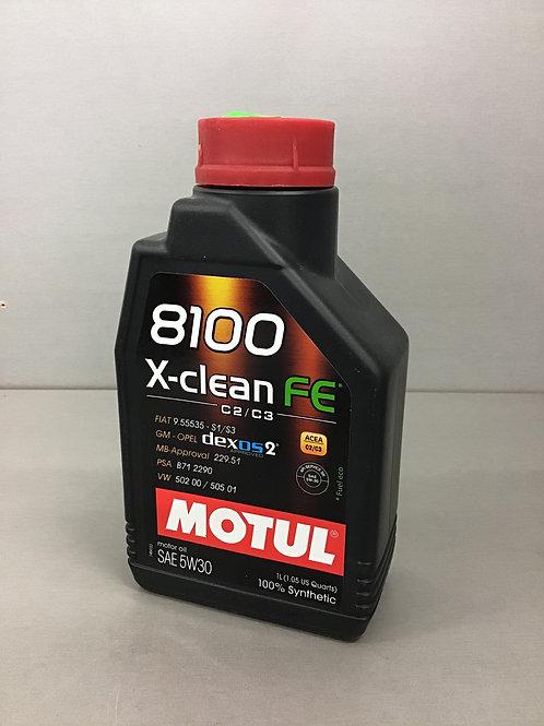 Original Motul 109239 8100 X-CLEAN FE 5W-30 1 L