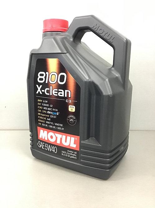 5L MOTUL 8100 X-Clean SAE 5W40 Motoröl