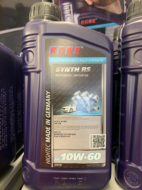 1 L LITER ROWE 10W-60 MOTORÖL HIGHTEC SYNTH RS SPORTWAGENMOTOR ACEA A3/B4 API SN