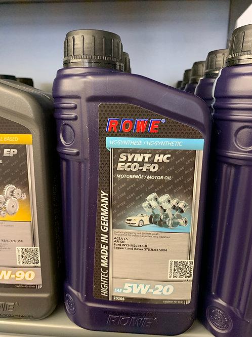 1 LITER ROWE SAE 5W-20 HIGHTEC SYNT HC ECO-FO MOTOR-ÖL FORD WSS-M2C948-B ACEA C5