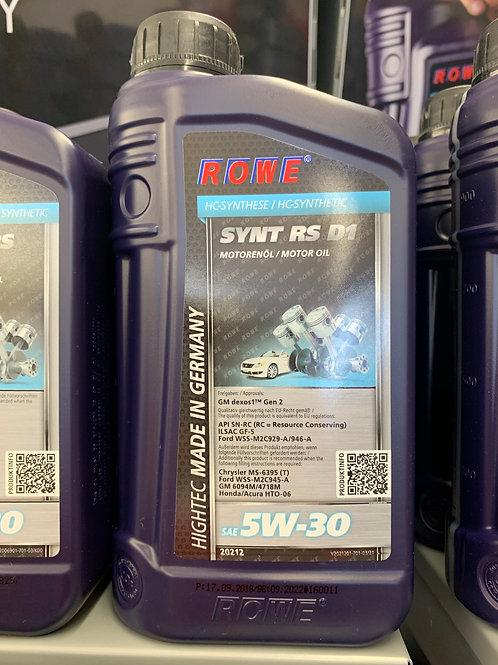 1 LITER ROWE SAE 5W-30 HIGHTEC SYNT RS D1 MOTORÖL OPEL GM DEXOS1 GEN 2 API SN