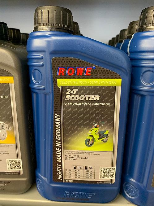 1 Liter ROWE HIGHTEC 2-T SCOOTER Teilsynthetisches 2-Takt Motorenöl