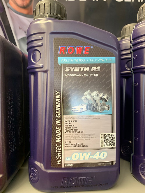 1 Liter ROWE HIGHTEC SYNTH RS SAE 0W-40 vollsynthetisches Motoröl