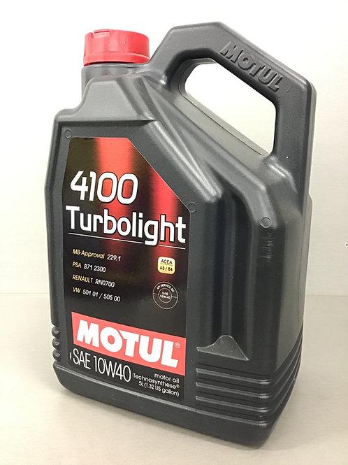 5 Liter  MOTUL 4100 TURBOLIGHT SAE 10W-40