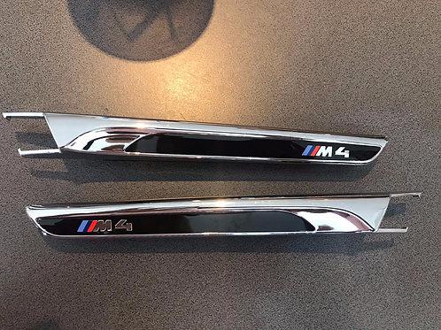 Original BMW F82 F83 M4 Set Ziergitter schwarz hochglänzend 2356982 2356983