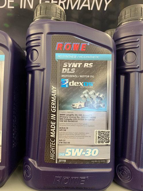 1 LITER ROWE SAE 5W-30 MOTORÖL HIGHTEC SYNT RS DLS GM OPEL BMW MB VW ACEA C3 API