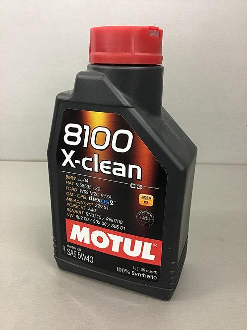 Original Motul 102786 8100 X-clean 5W40 Motorenöl 1L