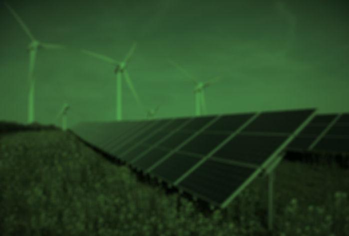 solar panels tinted green