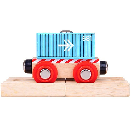 Bigjigs Container Wagon Blue