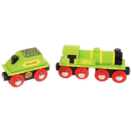 Bigjigs Big Green Engine + Coal Tender