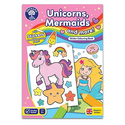 Orchard Unicorn & Mermaids Colouring Book