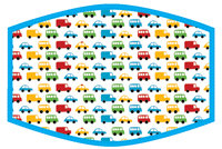 Child's Face Covering Cars and Trucks
