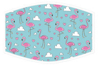 Child's Face Covering Flamingos