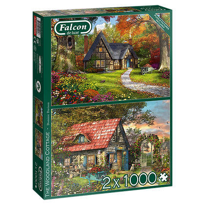 2x Woodland Cottage Puzzles
