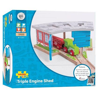 Bigjigs Triple Engine Shed