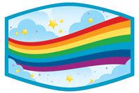 Child's Face Covering Rainbow Bridge