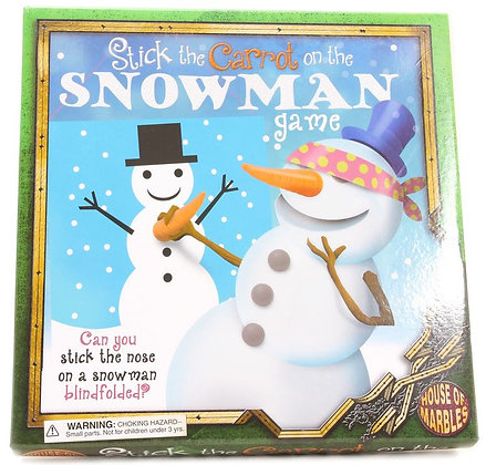 Stick the Carrot on Snowman