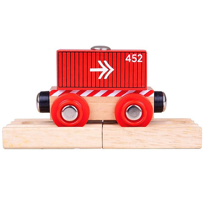 Bigjigs Container Wagon Red