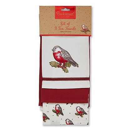 Festive 3 Pack Tea Towel