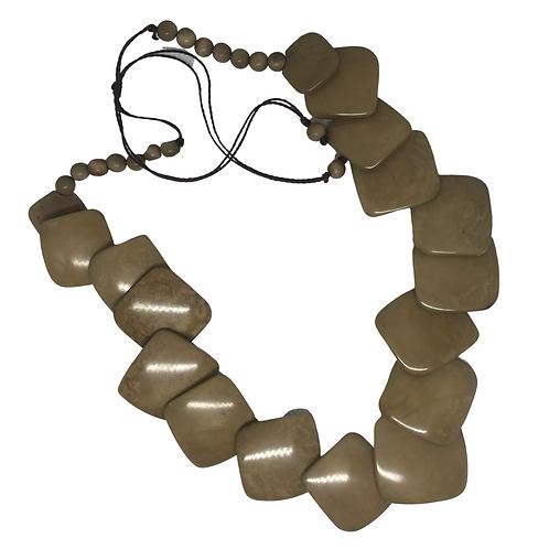 Tagua Nut Single Strand Necklace - Ecuador