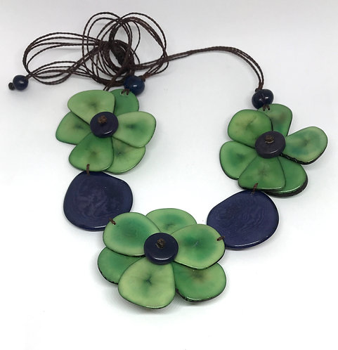 Flower Power Tagua Necklace