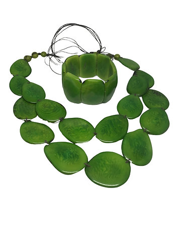 Tagua Nut Jewellery Set Option 3 - Ecuador