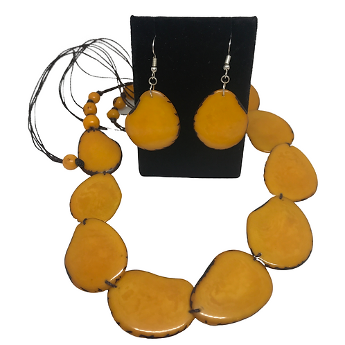 Tagua Nut Jewellery Set - Ecuador