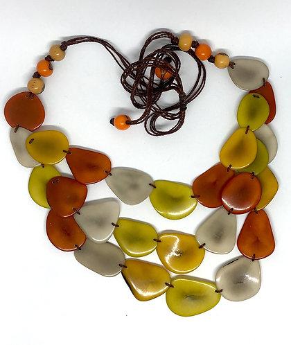 Sun Burst Tagua Necklaces - Ecuador