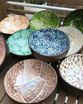 Decorative Coconut Bowls