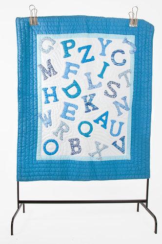 Alphabet Baby Quilt (blue) - Vietnam